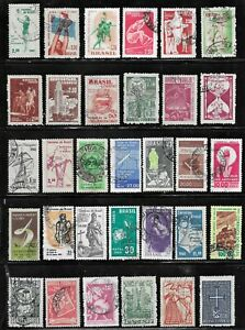 HICK GIRL- USED BRAZIL STAMPS    VARIOUS ISSUES        T164