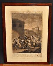 JUAN GALBEZ. GRABADO DE APROXIMAD. 1810 (COMBATE DE LAS ZARAGOZANAS )