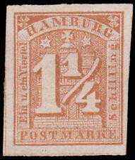 Germany - Hamburg Scott 9b (1864) Mint H F-VF, CV $125.00 D