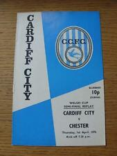 01/04/1976 Welsh Cup Semi-Final Replay: Cardiff City v Chester  (Slight Marked O
