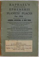 RAPHAEL'S ASTRONOMICAL EPHEMERIS ASTRONOMIA LUNA DECLINAZIONI PIANETI PLANETS
