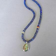 U&C Sundance Blue Lapis Garnet Citrine Amethyst Labradorite .925 Silver Necklace