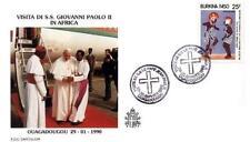 Burkina Faso 1990 Jan Pawel II papież John Paul Pope Papa Giovani Paolo (90/2)