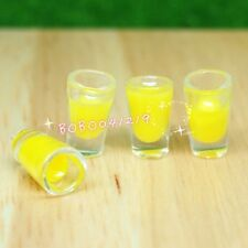 Dollhouse Miniature 1:12 Toy kitchen Drink 4 Cups Of Orange Juice H1.1cm DG7