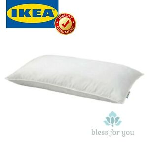 IKEA SKOGSFRAKEN Supportive Pillow Low Queen and King White