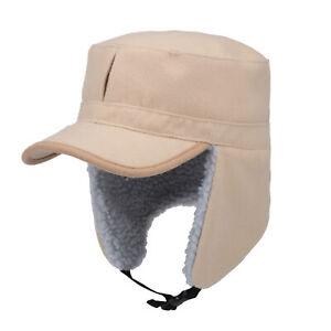 Mens Winter Hat Trapper Aviator Russian Trooper Earflap Warm Snow Ski Mask Cap