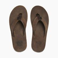 REEF Voyage LE | Men's, Beach, Bronze Leather Flip Flops
