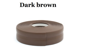 Dark Brown SKIRTING BOARD PVC FLEXIBLE - SELF ADHESIVE PVC 5m -25m linear metres