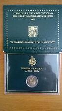 Coffret BU 2 Euro Vatican 2005 XX Giornata Mondiale della Gioventù Vaticano Neuf