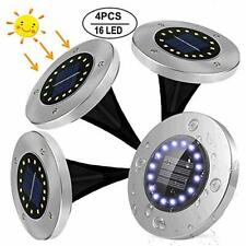 Luces Solares Jardin, Afaneep 4 Pcs 16 LED Luces Solares de (Blanco Frio)