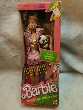 New ListingBarbie 1988 1350 Animal Lovin' Barbie Doll Pet Panda Nrfb Box shows wear