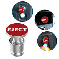 Universal Sports Red Eject Push Button Design Car Cigarette Lighter Plug Cover
