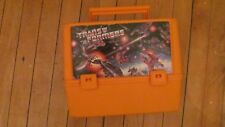 RARE vintage Transformers orange Thermos Lunchbox 80's toys