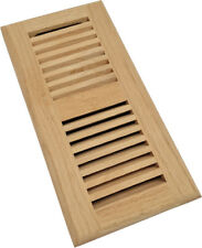 Homewell Solid Red Oak Wood Floor Register, Drop In Vent With Damper, 4x10 Inch