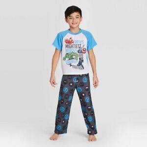 Boys' Avengers 2pc Pajama Set White Size 8