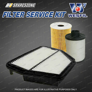 Wesfil Oil Air Fuel Filter Service Kit for Holden Captiva CG 2.0L TD 05/07-01/11
