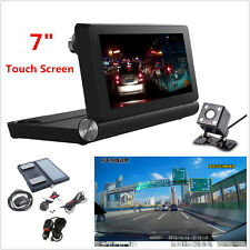 7inch Touch Android WiFi Bluetooth Dual Camera Car Video Recorder Dash Cam DVR