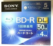 New 5 Sony Printable Blu-ray 50GB 4x Dual Layer BD-R DL Blank Disc Media Japan