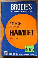 Notes on SHAKESPEARE, HAMLET - Brodie's Notes on Chosen English Texts