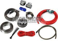 Rockford Fosgate RFK4D 4 Gauge Complete Dual Amplifier/Amp Installation Kit