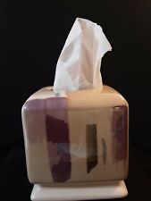 Horizons Tissue Cover Hand Painted Bath Accessories