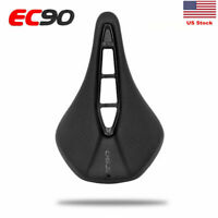 US EC90 Road Bike Saddle MTB Bike Racing Saddle PU Soft Seat Cushion 243*155mm