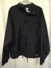 Men's Windbreaker Jacket Navy Size Large Fully Lined Zip Front  Outdoor Real New