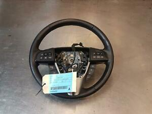 MAZDA 3 STEERING WHEEL LEATHER, MPS (RED STITCH), W/ STEREO/CRUISE/SAT NAV/BLUET