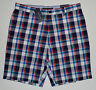 NWT Mens TOMMY HILFIGER Custom Fit Casual Shorts, Blue, size 33, Plaids&Checks