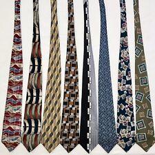 8 Men's Ties ALL LONG Abstract Geometric Wild 80's Artsy Fun Vtg Silk Tie Lot