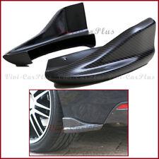 For 08-14 Subaru STI WRX CS Look 3K Carbon Fiber Rear Side Splitter Lip Pair Set