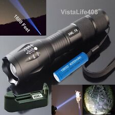 5 Mode, 2500 Lumen Zoomable Focus CREE XML T6 LED Flashlight + Charger + Battery