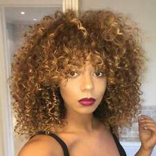 Short Afro Super Curly Wigs Short Wig Synthetic for African Women Gold Blond New