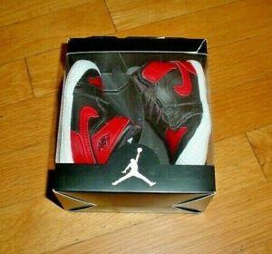 NIB Nike Air Jordan 1 Crib Shoes Bootie Black/Varsity Red Size 4C AT3745 023