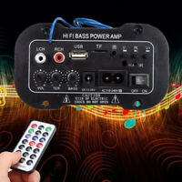 WR_ Pro Mini Car Bluetooth 2.1+EDR HiFi Bass Audio Power Amplifier FM Radio Play