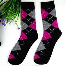 1Pairs Womens Socks Lot Classic Diamond Cotton Casual Dress Socks 22*22cm DWZ75