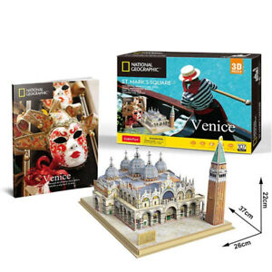 Cubic Fun - 3D Puzzle National Geographic st Mark's Square Venice Italy Large