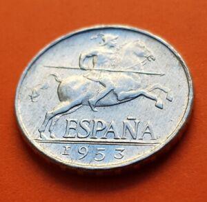 @RARA@ ESPAÑA 5 CENTIMOS 1953 SC- JINETE IBERICO ESTADO ESPAÑOL KM.765 defectos