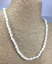 Vintage Style Necklace Pearl Freshwater Rice Choker Brass Clasp
