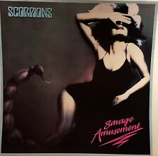 SCORPIONS 'SAVAGE AMUSEMENT' Promo Album Flat Suitable for Framing Mint! 1988