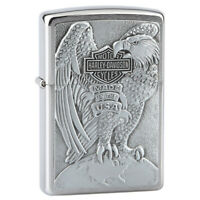 Zippo 200HDH231 Eagle Harley Davidson Brushed Chrome Lighter
