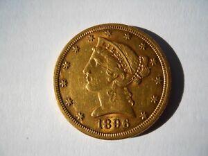 1896-S $5 Half Eagle Liberty Head - U.S. Gold Coin