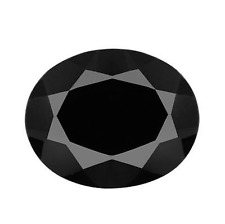 Genuine Natural Black Spinel AAA Rated Oval Faceted Loose Stones (4x3mm-25x18mm)