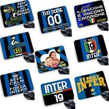 Tappetino Mouse Pad  Forza Inter neroazzurro campione scudetto Calcio personaliz