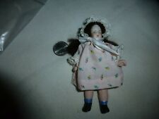 """Antique 4-1/2"""" Jointed Bisque Doll, Marked """"5000"""" On Back Of Head-Painted Face"""