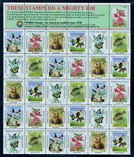 1982 National Wildlife Federation Birds/Fish Sheet (30) NWF Spring Stamps MNH