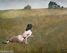 """Christina's World""1948/ Vintage Painting/Print/ Poster/Andrew Wyeth 17x22 inch"