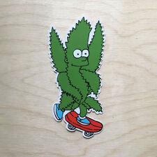RipNDip vinyl sticker decal bumper skateboard Bart weed 420 marijuana smoke SK8