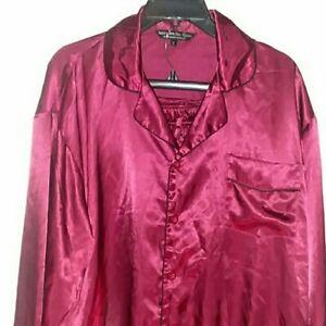 EUC Alexander Del Rossa Pajama Set Satin Silky Size Large