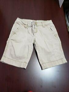Aeropostale Juniors Size 1/2 Beige Khaki Short Shorts Summer